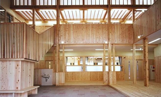大島小学校木造校舎内部